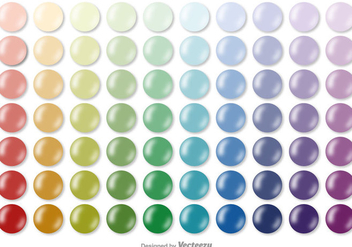 Vector Color Swatches Collection - vector gratuit #370899