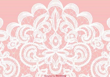 Vector White Lace Texture On Pink Background - vector #370929 gratis