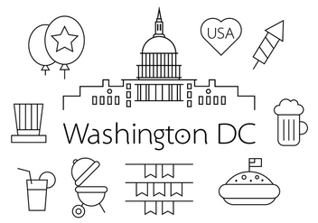 US Capital Vectors - vector #370959 gratis