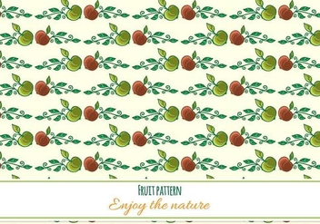 Free Vector Fruit Pattern - бесплатный vector #370989