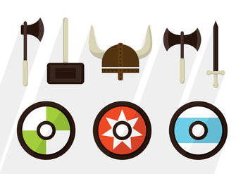 Barbarian Vector Elements - vector gratuit #371069