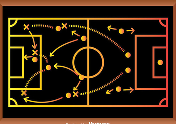 Soccer Game Strategy Playbook - vector gratuit #371129