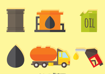 Oil And Gasoline Flat Icons - бесплатный vector #371139
