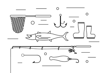 Free Fishing Elements - Free vector #371159