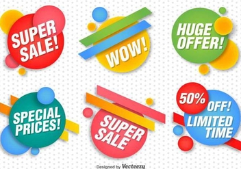 Promotional Vector Banners Set - бесплатный vector #371189