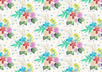 Free Vector Watercolor Floral Background - Free vector #371209