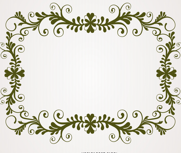 Antique floral swirl frame - Kostenloses vector #371219