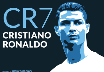 Ronaldo CR7 illustration - Free vector #371229