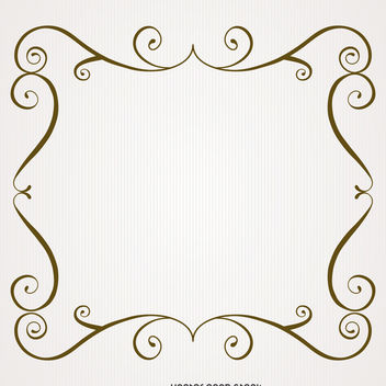 Vintage frame with swirls - vector #371279 gratis