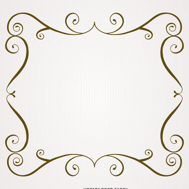 Vintage frame with swirls - Free vector #371279