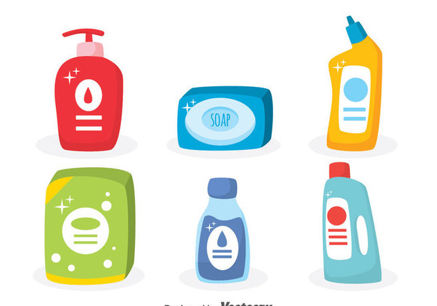Soap And Detergent Vector Set - бесплатный vector #371319