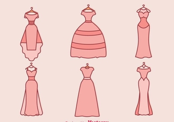 Wedding Dress Vector - Kostenloses vector #371379