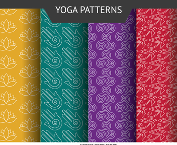 Yoga icon pattern set - Free vector #371449