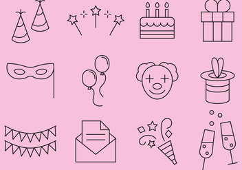 Party Line Icons - vector #371499 gratis