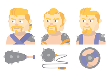 Barbarian Vector Set - Kostenloses vector #371529