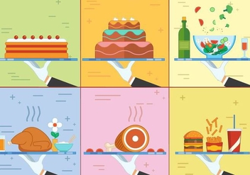 Free Flat Design Vector Food - vector #371579 gratis