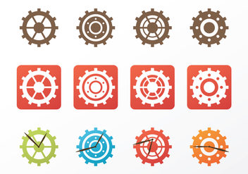Free Clock Parts Vector - vector gratuit #371589
