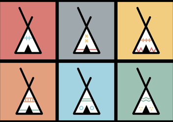 Tipi vector illustrations 2 - Free vector #371609