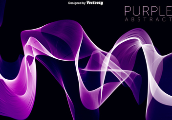Vector Purple Wave Abstract Background - vector gratuit #371649