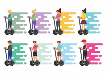 Segway People Set - vector #371689 gratis