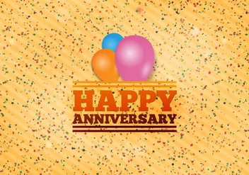 Free Vector Happy Anniversary Background - Free vector #371729