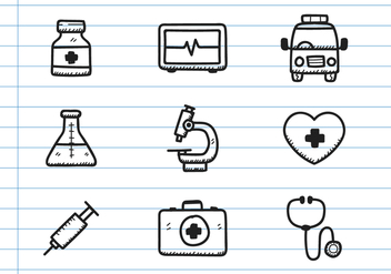 Medical Icon Doodle - vector gratuit #371789