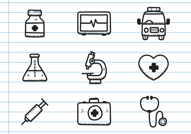 Medical Icon Doodle - Free vector #371789