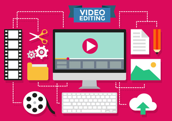Video Editing Infographic Vector Template - бесплатный vector #371879