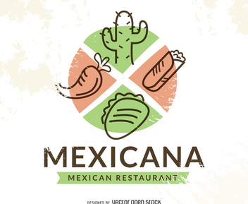 Mexican food restaurant logo - Kostenloses vector #371969