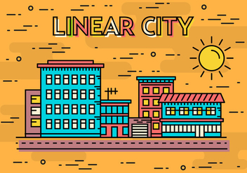 Free Linear City Vector Illustration - Free vector #372059