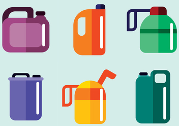 Oil Can Vector - vector gratuit #372119