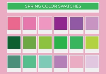 Free Spring Vector Color Swatches - бесплатный vector #372189