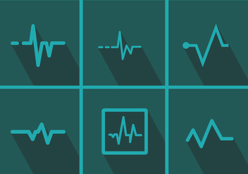 Heart Monitor Vector Pack 1 - Kostenloses vector #372209