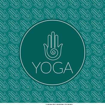 Yoga sign outline pattern - vector gratuit #372309