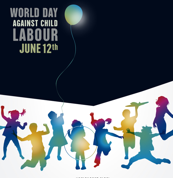 World Day against child labour poster - vector gratuit #372339