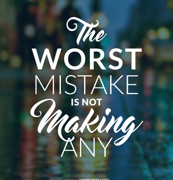 Hipster mistake quote poster - Free vector #372359