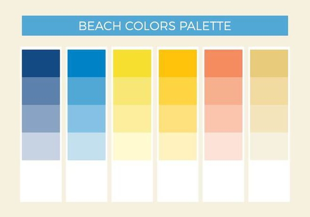 Free Beach Colors Vector Palette - бесплатный vector #372419