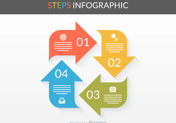 Free Vector Steps Infographic - Free vector #372479