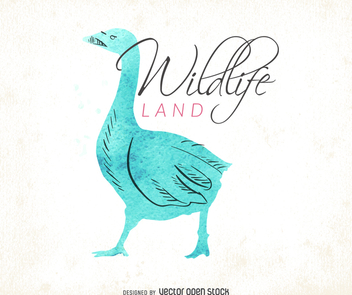 Watercolor wildlife logo - vector gratuit #372539
