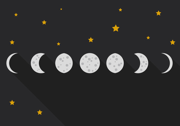 Vector Moon Phase - Free vector #372609
