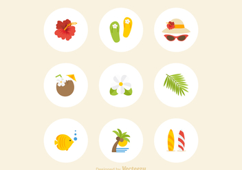 Free Hawaii Icons Vector - Free vector #372639