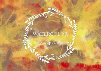 Free Vector Warm Watercolor Background - Free vector #372669