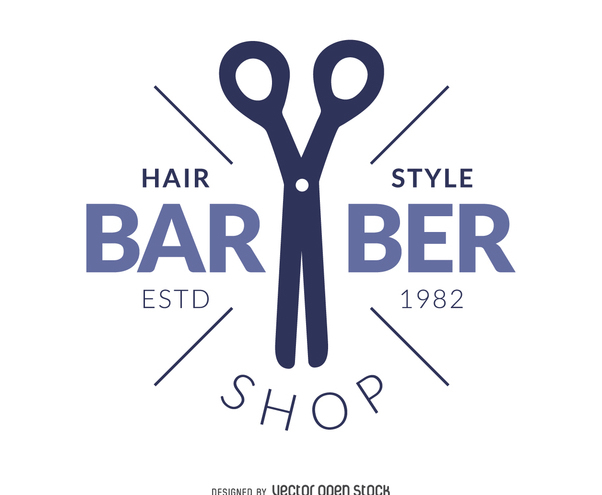 Barber hair salon logo - vector gratuit #372789