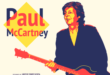 Colorful Paul McCartney illustration - vector gratuit #372799