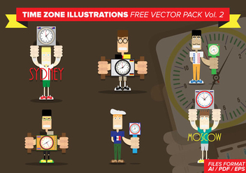 Time Zone Illustrations Free Vector Pack Vol. 2 - Kostenloses vector #372839