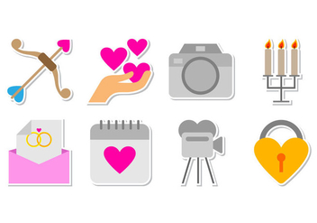 Free Wedding Icon Vector - vector gratuit #372849