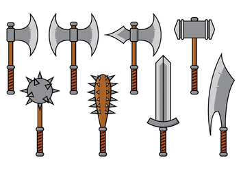 Barbarian Weapon Vector - бесплатный vector #372869