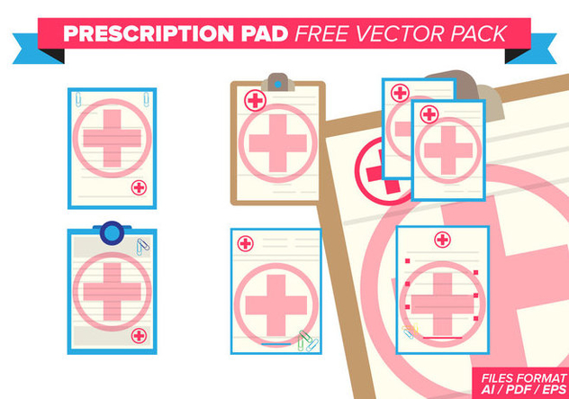 Prescription Pad Free Vector Pack - бесплатный vector #372949