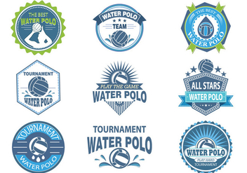 Water Polo Labels and Stickers - бесплатный vector #372969