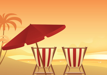 Chair Beach Free Vector - vector gratuit #373009